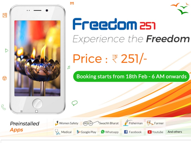 Rs. 251 Smartphone Bookings Stopped as Company Servers are 'Overloaded'