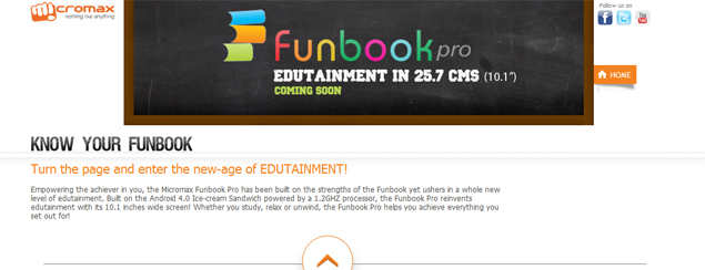 Micromax Funbook Pro: 10.1-inch tablet surfaces online