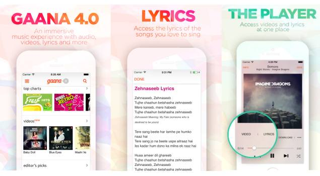 Gaana 4.0 App With Music Videos and Lyrics Now Available for Download