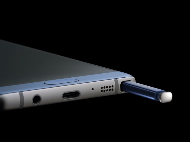Samsung Galaxy Note 7's S Pen Stylus Cannot Be Inserted the Wrong Way