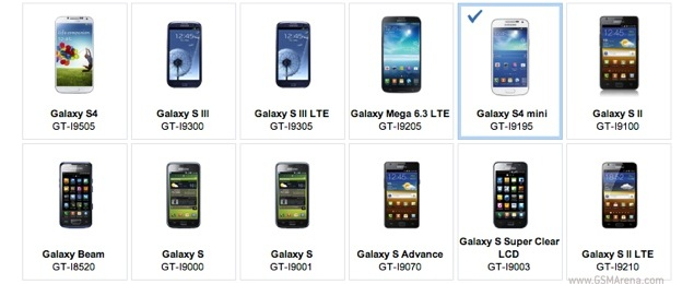 Samsung Galaxy S4 mini 'confirmed' via listing on company's website