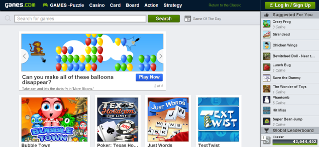 AOL relaunches Games.com focuses on mobile browser gaming