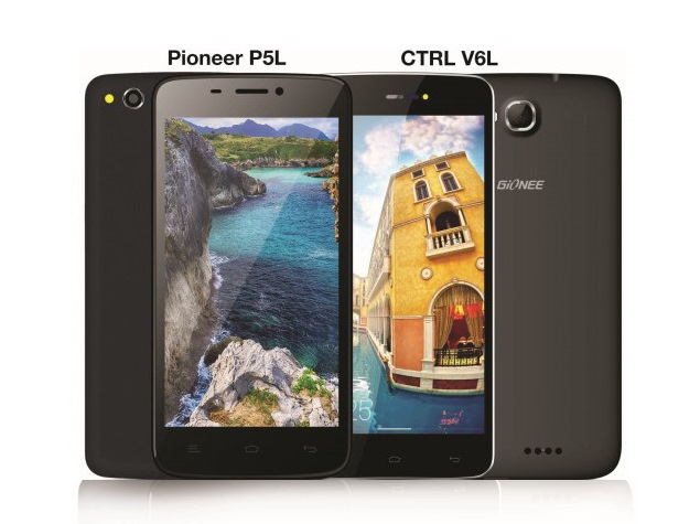 Gionee Pioneer P5L, Gionee CTRL V6L LTE Smartphones Launched in India