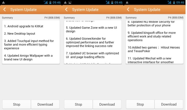 Gionee Pioneer P4 Now Receiving Android 4.4 KitKat Update in India
