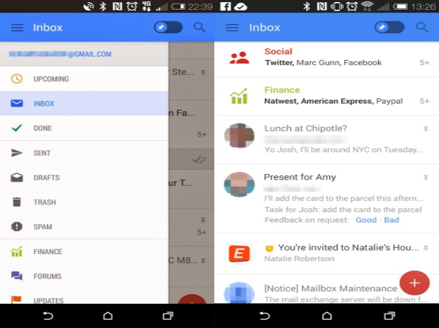 Leaked Gmail for Android screenshots tip revamped UI across Google apps