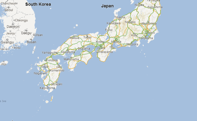 Japan Asks Local Authorities To Stop Using Google Maps Over - Japan map bodies of water