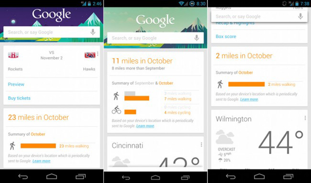 Google Now's pedometer card reignites privacy debate