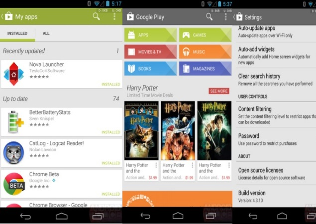 Google updates Play Store, adds 'Recently Updated' section