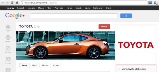 Google+ offers vanity URLs for verified accounts