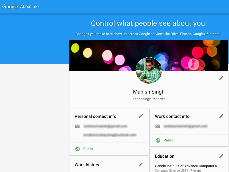 Google's About Me Page to Make Reviewing Personal Information Easier