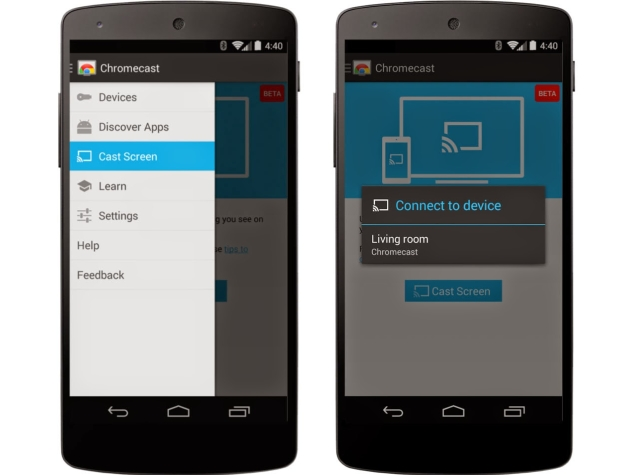 Google Starts Rolling-Out Chromecast Android Mirroring Feature