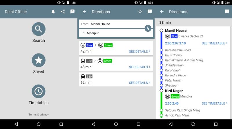 Google Delhi Public Transport Offline App Launched for Bus, Metro