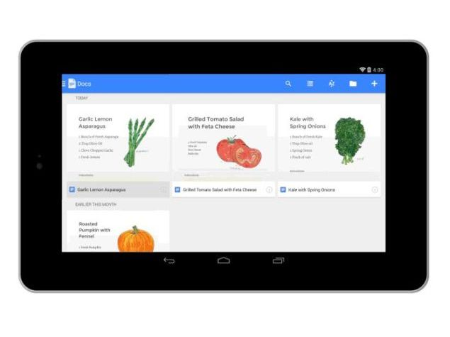 Google introduces Docs, Sheets and Slides apps for offline editing
