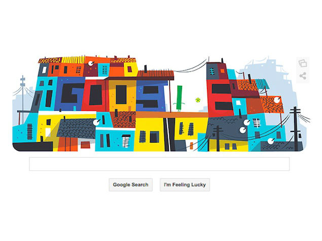 Latest World Cup 2014 Doodle Pays Homage to the Streets of Rio