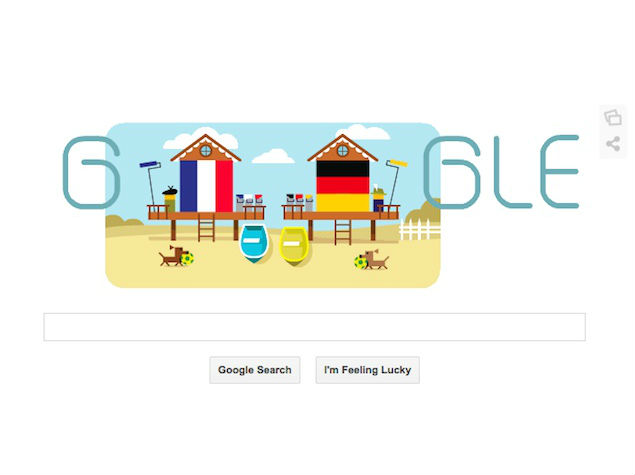Germany vs France Quarter-Finals Google Doodle Depicts Age-Old Rivalries