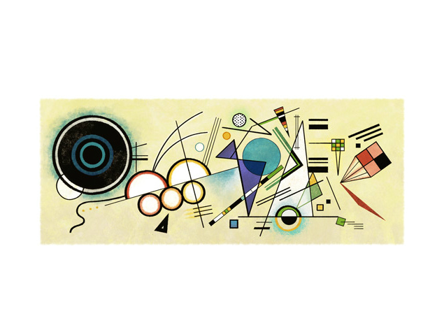 Wassily Kandinsky's 148th Birthday Marked by Google Doodle on Tuesday