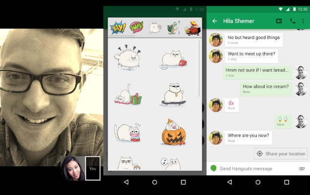 Hangouts for Android Updated With Smart Suggestions, Video Filters and More
