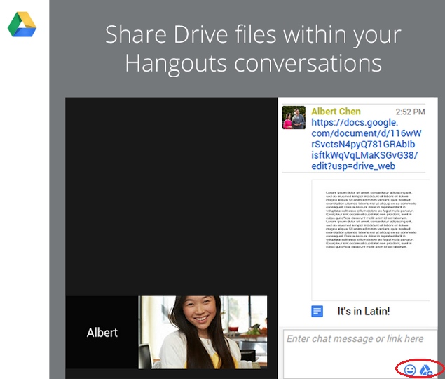 Users Can Now Share Google Drive Files Within a Hangouts Video Call