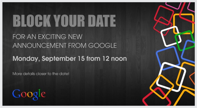 Google Sends Invites for September 15 India Event; Android One Launch Likely