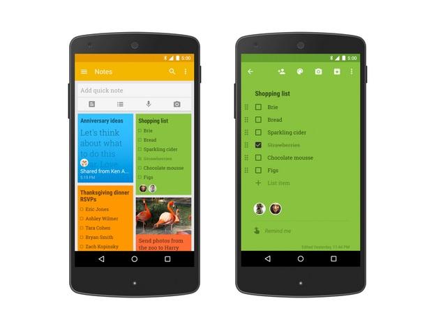 Google Keep Update Brings List and Note Sharing