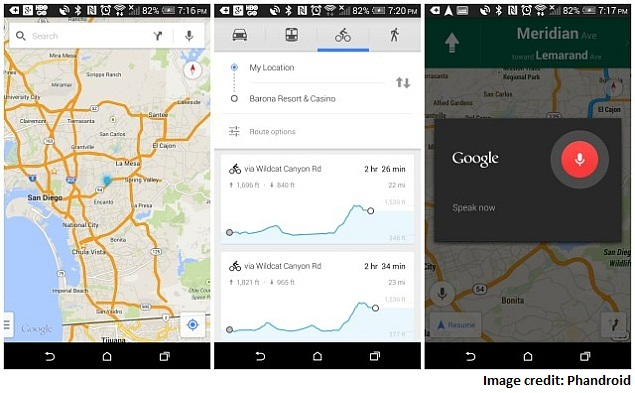 Google Maps for Android Gets Voice Controls, Elevation Info ... on geographic information system map, floor map, political map, maritime climate map, oblique projection map, mountain map, topo map, area map, time zone map, vegetation map, terrain map, precipitation map, latitude map, current events in 2013 map, relief map, contour map, physical map, niche map, coordinate grid map, geographic location map,