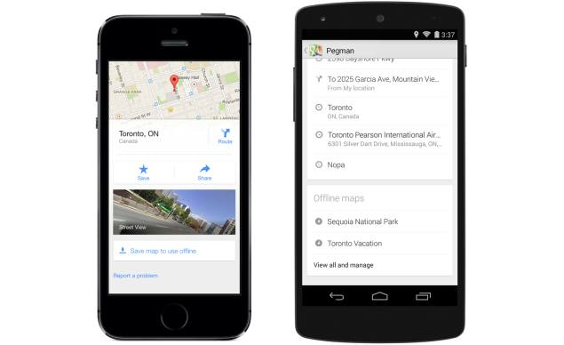 Google Maps Apps Updated With Lane Guidance, New Offline