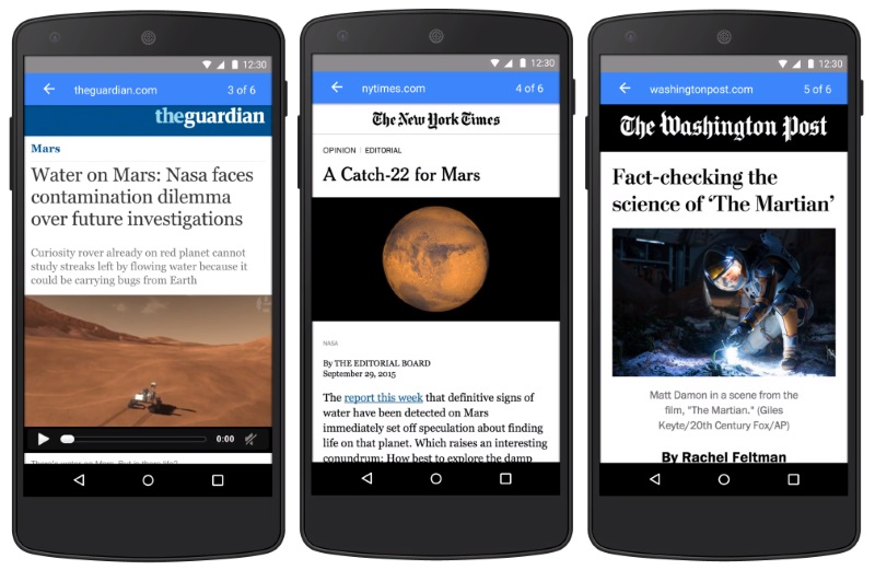 Google's Accelerated Mobile Pages to Rival Facebook Instant Articles