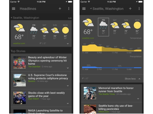 Google News & Weather App for iOS Now Available for Download