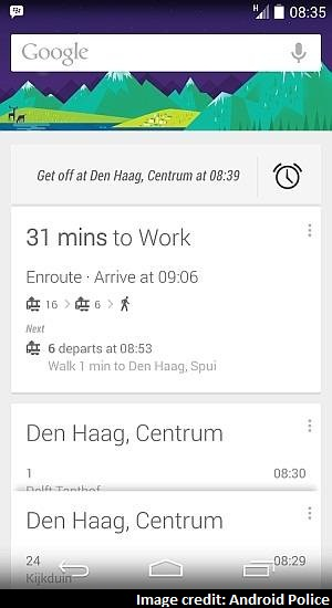 Google Now to Alert Public Transport Users About Their Next Stop