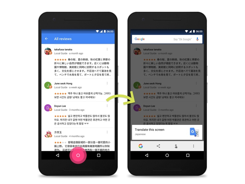 Google's Now on Tap Makes It Easy to Translate Any Screen
