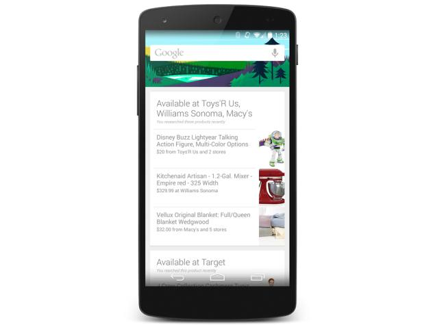 Google Now to Tell You When a Searched for Item is Sold Nearby