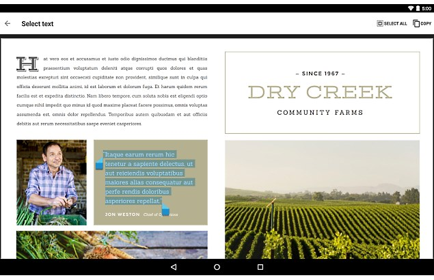 Google Launches PDF Viewer for Android, Updates Drive, Hangouts, and More