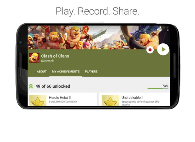 you can now record and publish android gameplay with google play