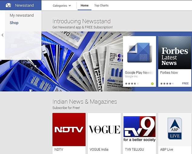 Google Play Newsstand Paid Content Arrives in India, Other