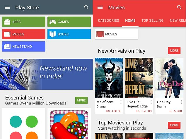 Google Play Store 5 0 With Material Design Update Starts