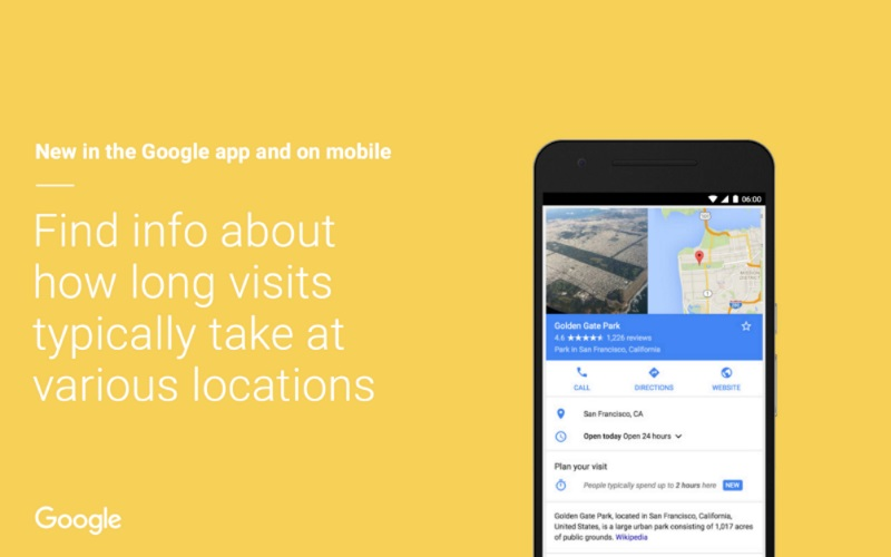 Google Now Shows Average Time Spent at a Location to Help Plan Your Visit