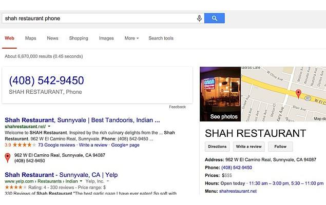 Call Businesses Straight From Google Search Results on a Desktop