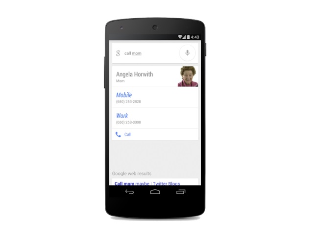Google Search for Android now supports relationship-based voice commands