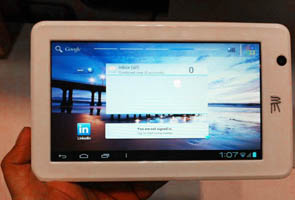 HCL to launch a new 3G tablet for Rs. 18,000 in August
