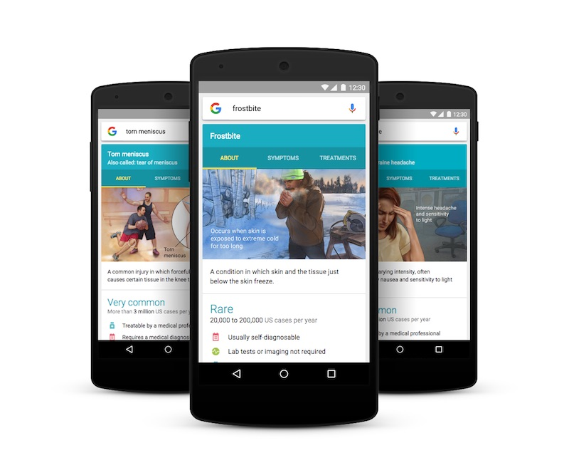 Google Now Helps Find Details of Over 900 Health Conditions and Illnesses