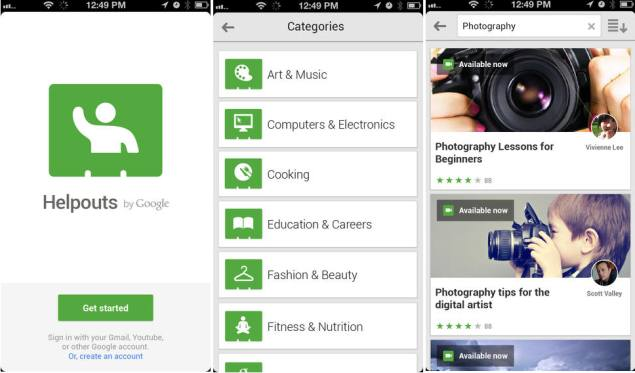 Google Helpouts remote learning app launched for iOS devices
