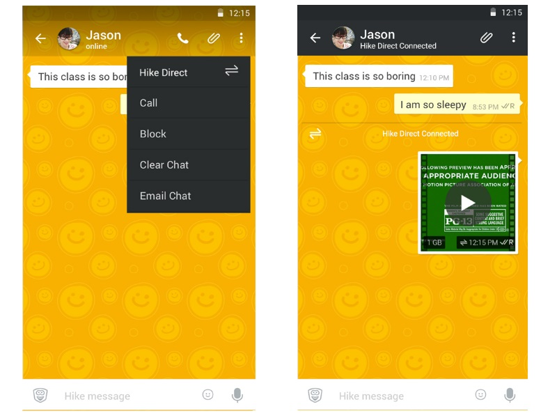 Hike Adds Feature That Lets Users Send Messages and Files Without Internet