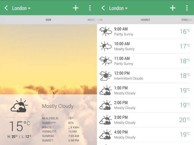 HTC Weather App Now Available for Download on Google Play