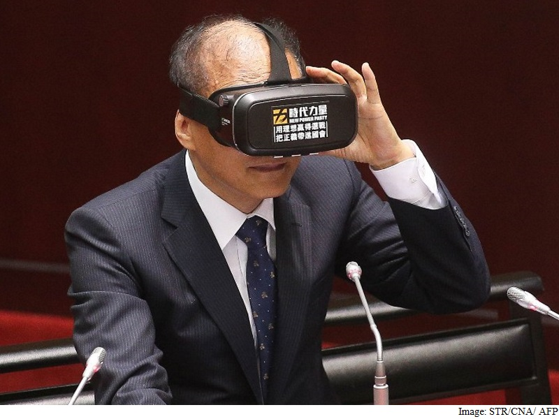 Future Vision? Taiwan Premier Wears VR Goggles in Parliament