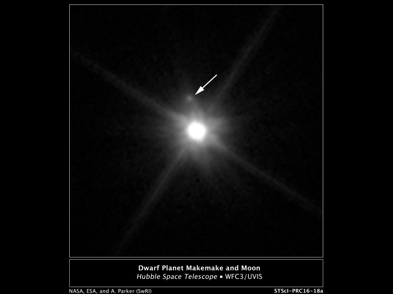 Nasa's Hubble Telescope Spots Moon Orbiting Dwarf Planet 'Makemake'