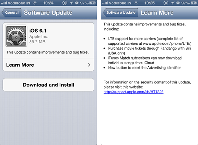 iphone software update apple rolls out ios 6 1 update brings additional lte 12330