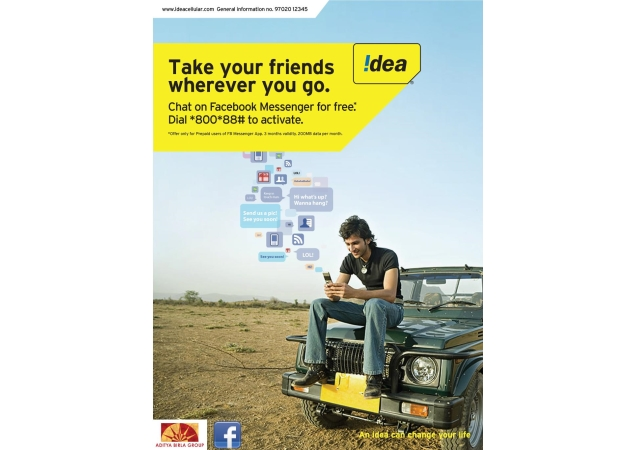 Idea Cellular offers free Facebook Messenger usage for 3 months to prepaid subscribers