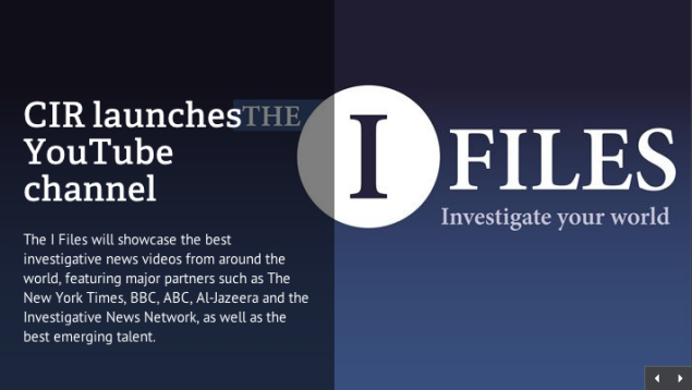 YouTube launches 'I Files', an investigative news channel