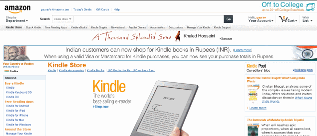 Amazon launches India Kindle Store, e-reader at Croma for Rs