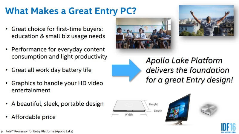 Intel Announces Next-Gen 'Apollo Lake' Platform For Affordable 'Cloudbook' PCs